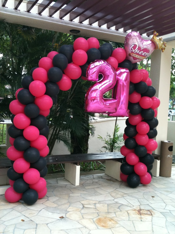 21st birthday party balloon ideas blog for 21st party decoration