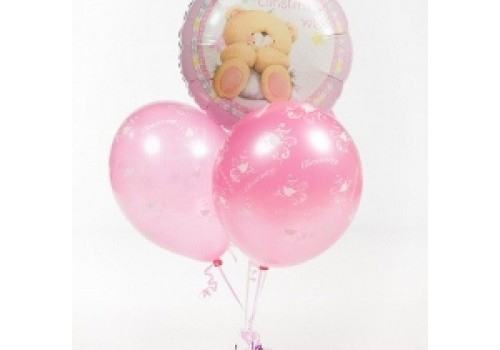 a christening balloon