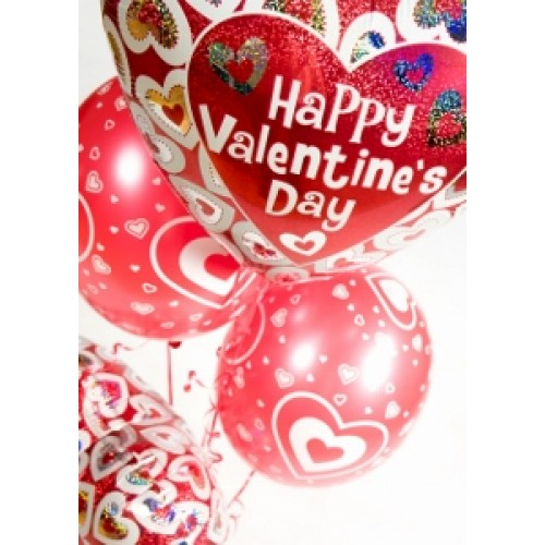 Balloon staggered centerpiece valentine s day